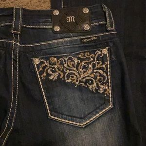 BNWT Miss Me bootcut jeans in dark blue wash